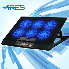 ARES N8 Laptop Cooling Pads Notebook Cooler 6 Fans 2 USB with LED Speed Control