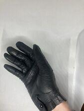 Vintage Womens Barra Italian Leather Gloves Unlined Mid century