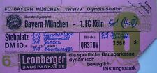 TICKET BL 1978/79 FC Bayern München - FC Köln