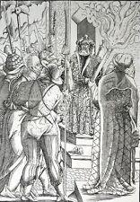 HOLZSCHNITT JOST AMMAN CHRISTUS VOR PILATUS AUS SAMMLUNG DERSCHAU UM 1565