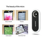 20X-400X Portable Phone Microscope Magnifier +12pcs Stickers Fr IOS Android T6J5