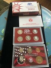 2002 United States Mint Silver Proof Coin Set