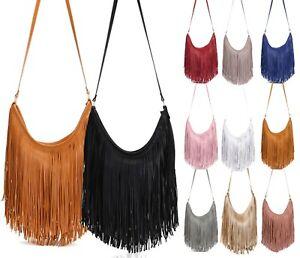 Ladies Fringe Shoulder Bag Women's Tassel Crossbody Bag Messenger Bag Handbag