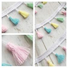 Tassel Trim Baby Pastels Pink Blue Lemon Mint Trimming Ribbon Fringe Nursery
