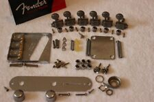 Fender Telecaster Aged Relic Chrome Body Compensated Hardware Set w/ Tuners USA