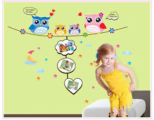 Removable DIY Art Wall Decals Owls Wall Sticker Children Babies Home Room Decor