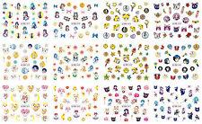 12 Sheets Nail Art Water Transfer Decal Stickers Saliar Moon BN457-468