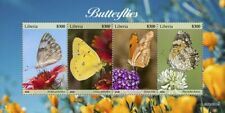 More details for liberia butterflies stamps 2020 mnh clouded sulphur butterfly insects 4v m/s