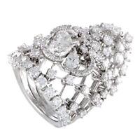 Stefan Hafner 18K White Gold Full Diamond Tiara Ring