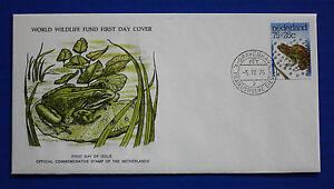 Netherlands (B519) 1976 Green Marsh Frog WWF FDC
