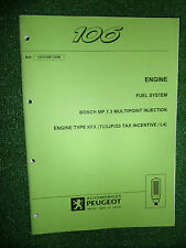 PEUGEOT 106 BOSCH MP7.3 INJECTION FACTORY TECHNICAL DIAGNOSIS BOOKLET MANUAL '98