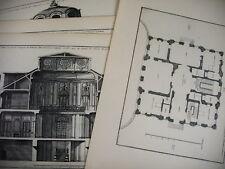 PLAN MAISON à bâtir près Genève architecte J. F. Blondel Mariette