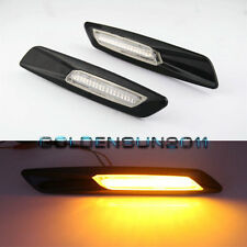 Amber LED Side Marker For BMW E90 E91 E92 E60 E82 E83 E88 F10 Style Black Trim