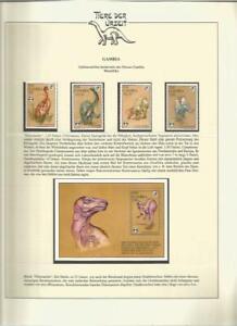 81580/ Dinosaurier Fauna Tiere ** MNH OHNE VORDRUCK GAMBIA