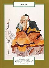 GREETING CARD spiritual art LAO TZU Saints and Sages