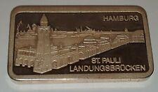 SILBERBARREN DEGUSSA 999/1000 1 oz St. Pauli Landungsbrücken 1 UNZE FEINSILBER