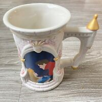 RARE Vintage Disney Parks Exclusive Sleeping Beauty 3D Castle Coffee Mug