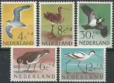 Timbres Oiseaux Pays Bas 733/7 ** lot 29465 - cote : 14 €