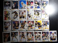 1991-92 Upper Deck UD Boston Bruins Team Set of 25 Hockey Cards
