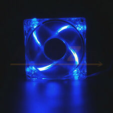 Quad 4 LED Lights Clear 80mm 120mm PC Computer Case Cooling Fan Mod All color