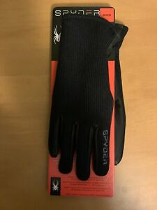 Spyder Core Conduct Leather Palm Stretchable Gloves SIZES Med & XL ~New w/Tags~