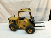 Vintage Mighty Tonka Yellow Forklift Construction Toy. 54753 Steel Toy