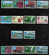 Grenada 1966/67 QEII Pictorials (including Assoc. Statehood opts) -  MLH