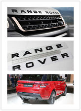 Replacement Range Rover Front BONNET Hood Up Rear trunk Emblem Sticker Matt Bk