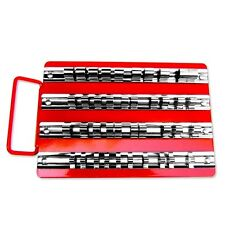 "40pc Socket Tray Rack 1/4"", 3/8"", 1/2"" inch Snap Rail Tool Set Organizer"