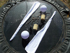 Ultimate Poi package Fire, LED, Socks easy quick link chains. Spinning twirling
