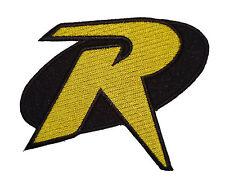 "Robin ""R"" Logo  Batman Animated Series 3.5 inch iron on Patch"