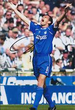 Gus POYET Signed Autograph 12x8 Photo AFTAL COA Chelsea Sunderland Manager RARE