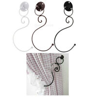 2x Vintage Metal Iron Window Curtain Tie Back Tieback Holder Wall Hooks Hangers