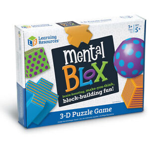 Learning Resources Mental Blox 3D Childrens Puzzle Matching Problem Solving Game