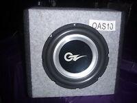"""OZ Audio 10"""" VECTOR3 Series Subwoofer + Perspex QMAX SUB Enclosure"""