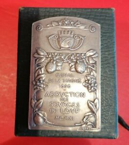 Médaille de table argent massif  1911 silver société lyonnaise des eaux