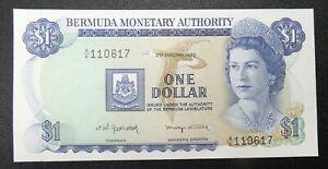1982 $1 Bermuda Monetary Authority Pick 28b UNC Condition - b A/6 110617