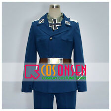 Cosonsen APH Axis Powers Hetalia Prussia Cosplay Costume Blue Uniform All Size