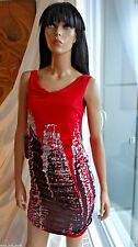 Sexy club dress KIMIKAL red with rhinestone dress SKY ED HARDY SMALL NWT $149