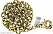 """Single 5/16"""" g70 10' Safety Chain Hvy Duty sling hook wrecker tow truck flatbed"""