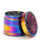 "1.5"" 40MM 4 Layer Metal Tobacco Crusher Hand Muller Smoke Herbal Grinder Rainbow photo"