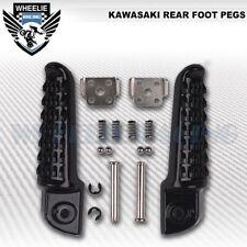 PAIR BLACK REAR PASSENGER FOOTRESTS FOOT PEG ARM/PILLION STEPS KAWASAKI NINJA ZX