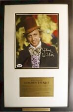 Willy Wonka Gene Wilder Signed PSA Certified Golden Ticket New Frame autograph