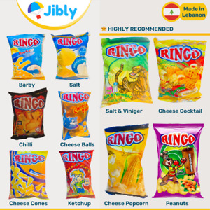 🇱🇧 Lebanese RINGO Potato Chips 10 Flavors   Lebanon Snacks   Rare Find Online