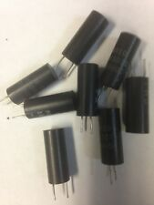 NOS (8) TSI 10uF 50V Capacitors Same Sided Axial