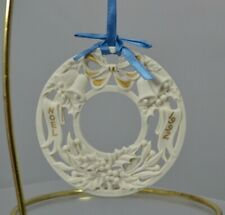 Wedgwood White Jasper 4th Annual Wreath 1994 White and Gold, With Box, Mint