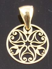 Brand New Solid 9ct Gold 13mm Swirl Pendant