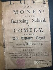 1696 Antique English COMEDY PLAY Thomas Durfey LOVE For MONEY Drama SATIRE Stage