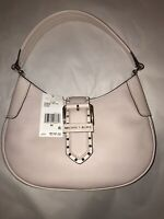 NWT Michael Kors Lillian Leather Buckle Small Shoulder Bag Purse Soft Pink Gold