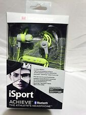 Monster iSport Achieve In-Ear Sound Isolating Bluetooth Headphones with Mic-Gree